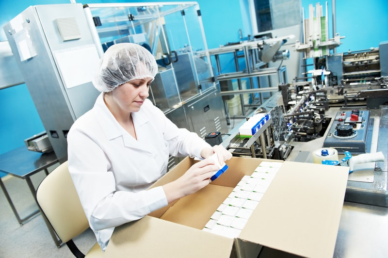 Lab worker involved in commercial supply chain