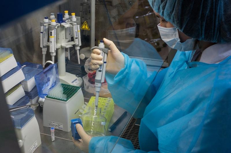 Lab worker devleopment treatment